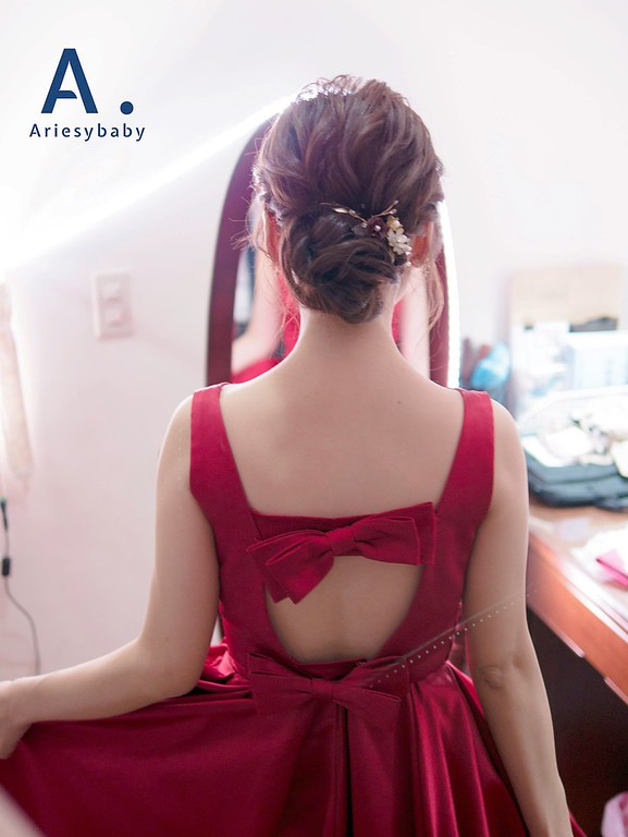 Ariesybaby造型團隊,新娘秘書,台北新秘,新娘造型,文定髮型,蓬鬆編髮