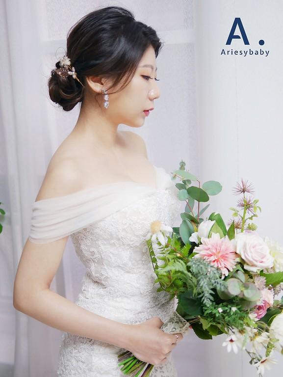 Ariesybaby造型團隊,新娘秘書,新秘,ARIESY 愛瑞思品牌訂製手工婚紗,新娘造型,白紗造型