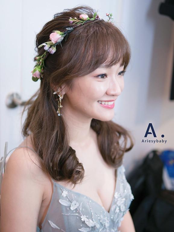新娘秘書,台北新秘, Ariesybaby造型團隊,新娘造型,新娘髮型,蓬鬆線條