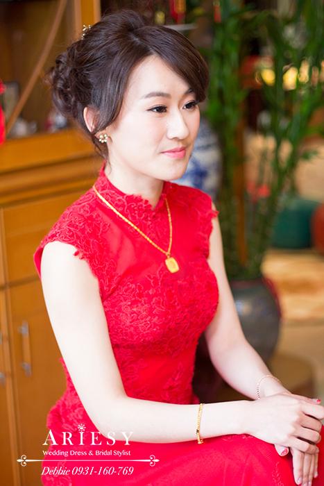 新娘秘書,新娘髮型,文定造型,台北新秘,清透妝感