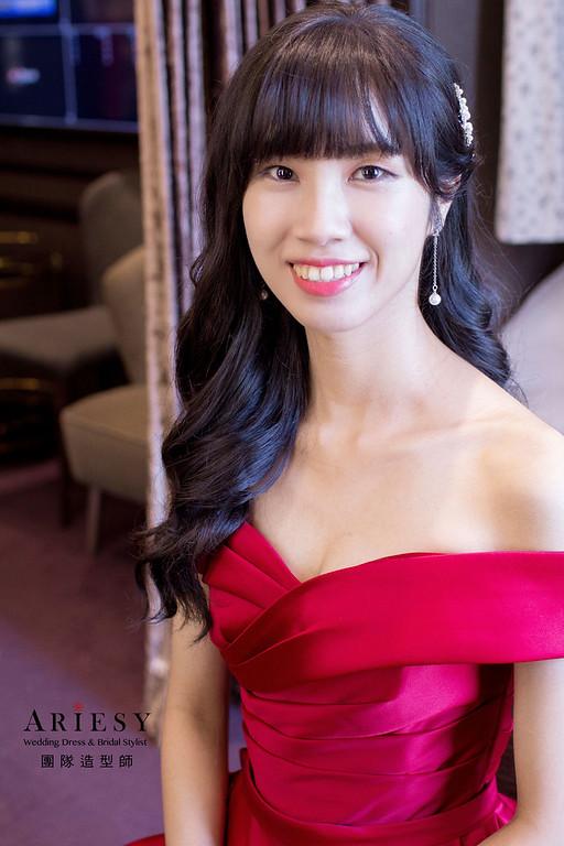 新娘造型,台中新秘,韓系新娘盤髮,新秘,新娘秘書