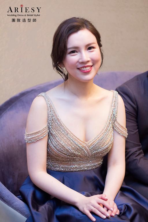 新娘秘書,新秘造型,編髮造型,白紗新娘造型,新娘韓系妝感