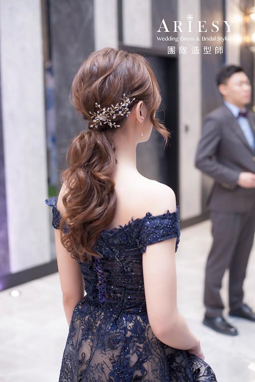 桃園新祕,新娘秘書,新娘造型,新娘編髮,馬尾造型,自然清透妝感,新娘髮型,編髮造型,手工新娘飾品,推薦新秘
