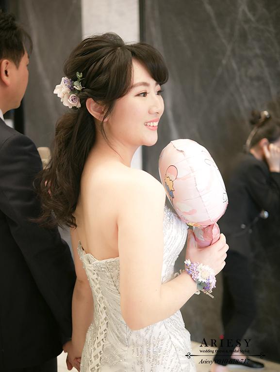 新娘鮮花手環,新娘手腕花,鮮花新秘,台北新秘,愛瑞思