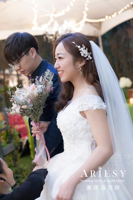 推薦,新娘秘書,韓風新娘,編髮新祕,白紗造型,花藝新娘飾品,新娘髮型,自然妝感
