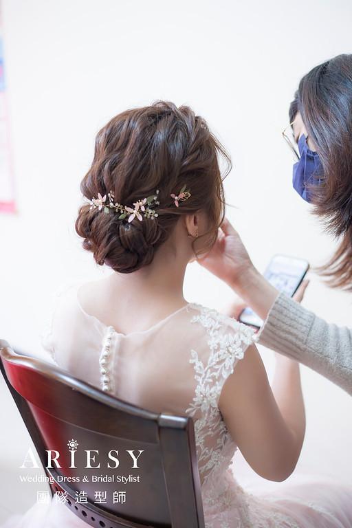 新祕推薦,新娘秘書,新娘造型,編髮新祕,文定造型,手工新娘飾品,新娘髮型,自然妝感