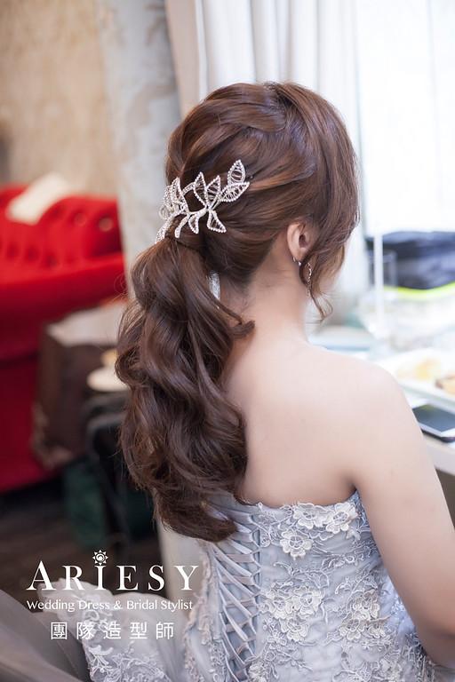 新祕推薦,新娘秘書,韓風新娘,編髮新祕,馬尾造型,編髮造型,新娘髮型,自然妝感