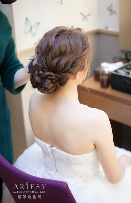 白紗造型,編髮造型,新娘髮型,新娘造型,迎娶造型,戶外證婚儀式,新祕