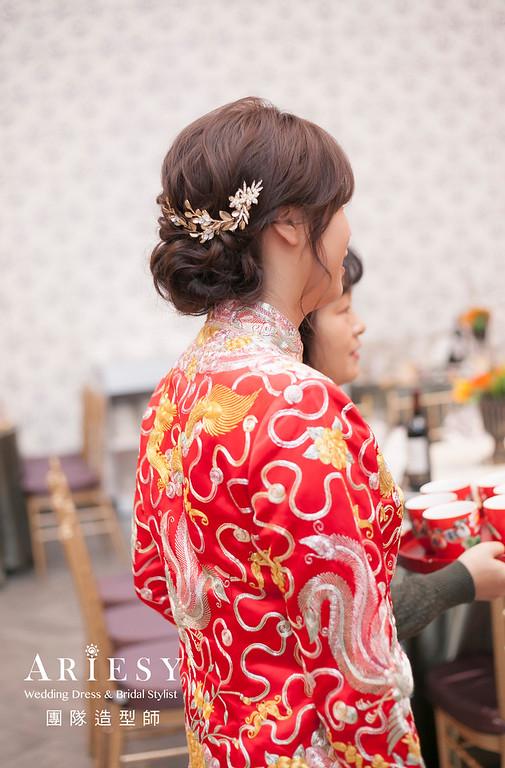 文定造型,編髮造型,龍鳳掛造型,新娘秘書,新娘造型,新祕,清透妝感