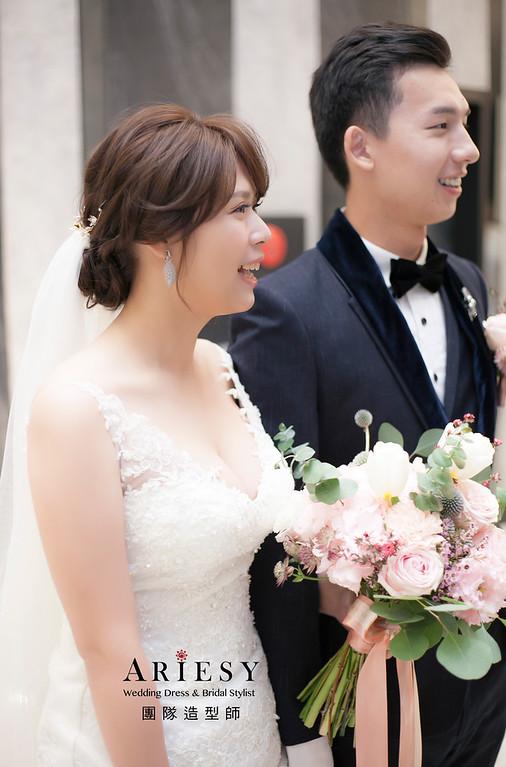 白紗造型,編髮造型,新娘髮型,新娘秘書,新娘造型,新祕,清透妝感