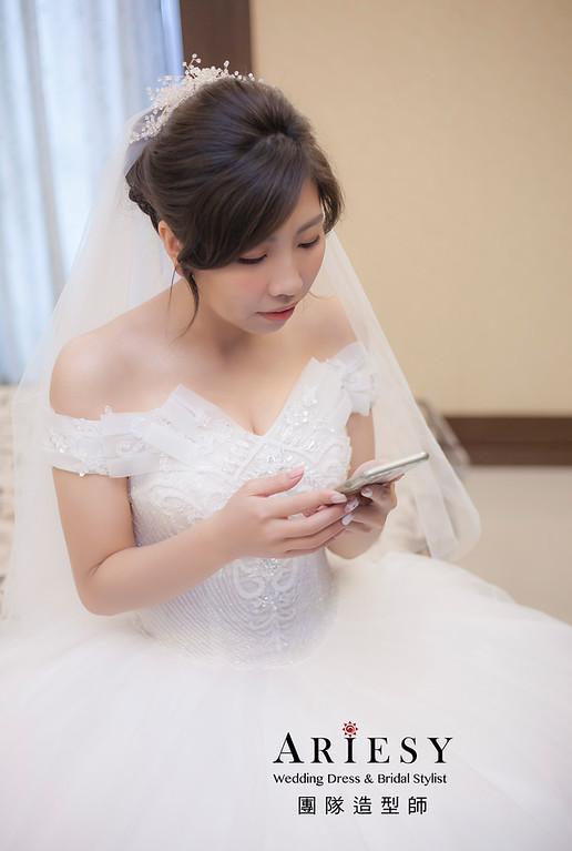 白紗造型,編髮造型,進場新娘髮型,,新娘造型,迎娶造型,新祕,新娘祕書