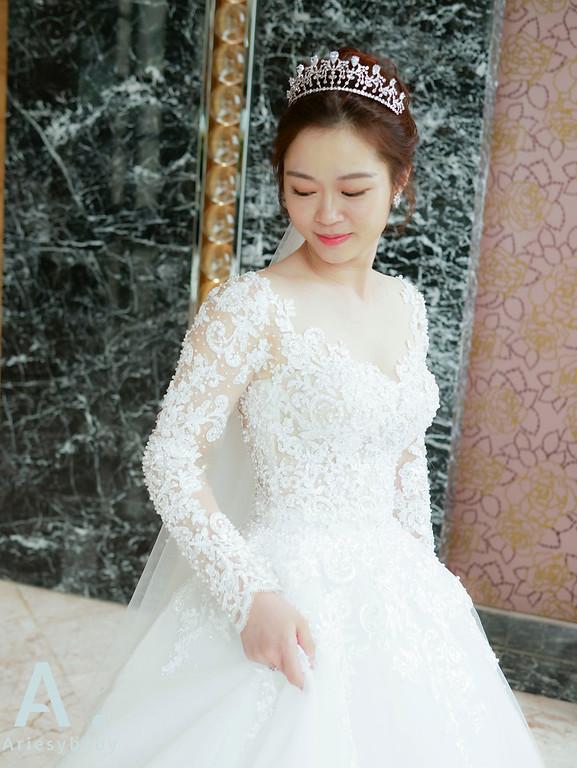 新祕,Ariesybaby造型團隊,白紗造型,自然清透妝感