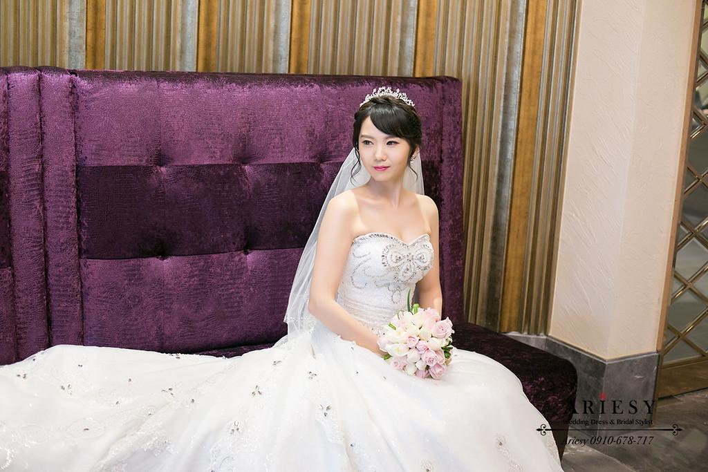 台北新秘,新娘秘書,新娘造型,白紗造型,鮮花新秘
