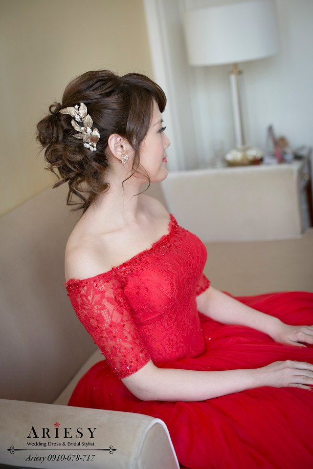愛瑞思,台北新秘,新娘秘書,歐美編髮,鮮花造型
