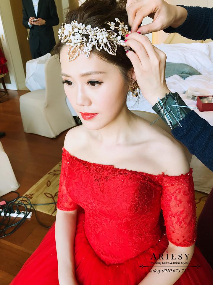 愛瑞思,台北新秘,新娘秘書,歐美編髮,鮮花編髮