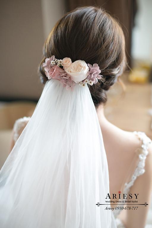 台北新娘秘書,新秘推薦,鮮花日系新娘造型,歐美新娘髮型,愛瑞思,ARIESY