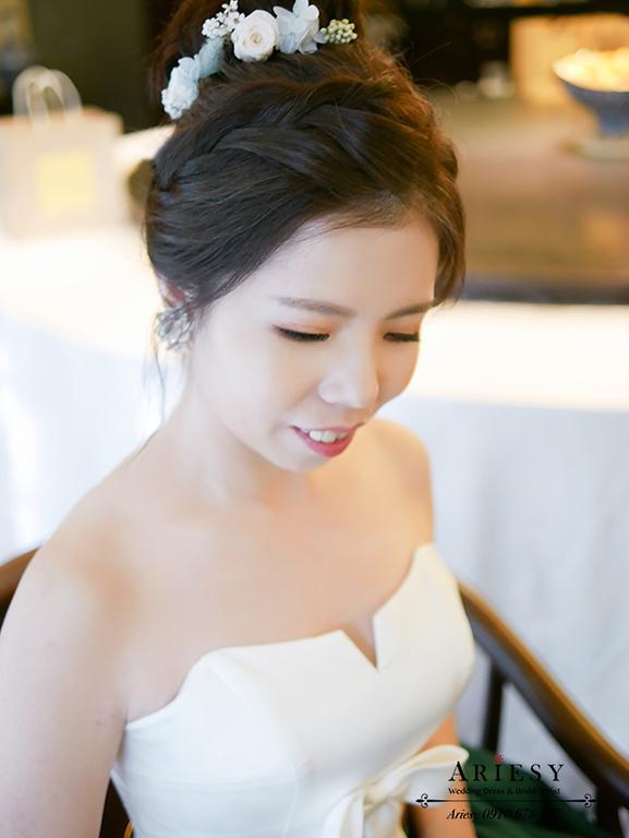 單眼皮新娘,新娘秘書,故宮晶華,新秘,ARIESY,鮮花新娘造型