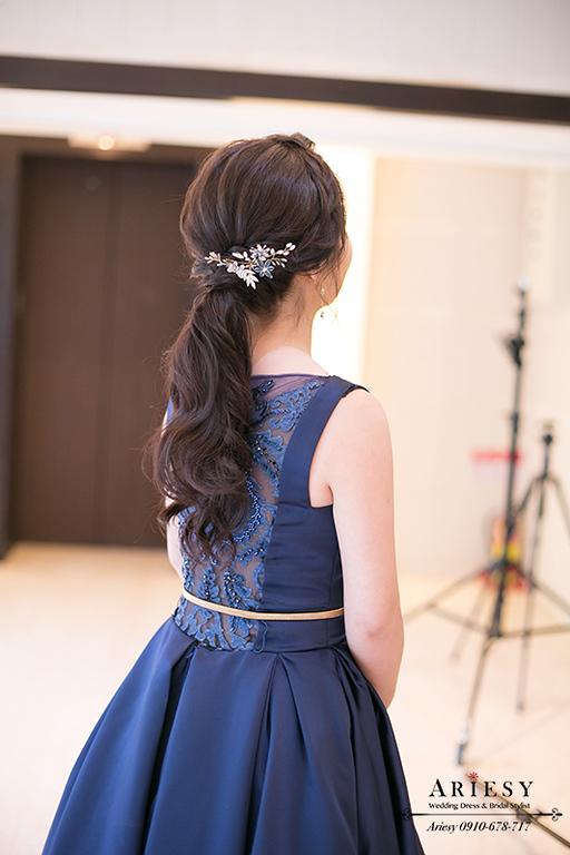 赫本九分裙禮服,新娘馬尾髮型,單眼皮新娘,新娘秘書,故宮晶華,愛瑞思新秘