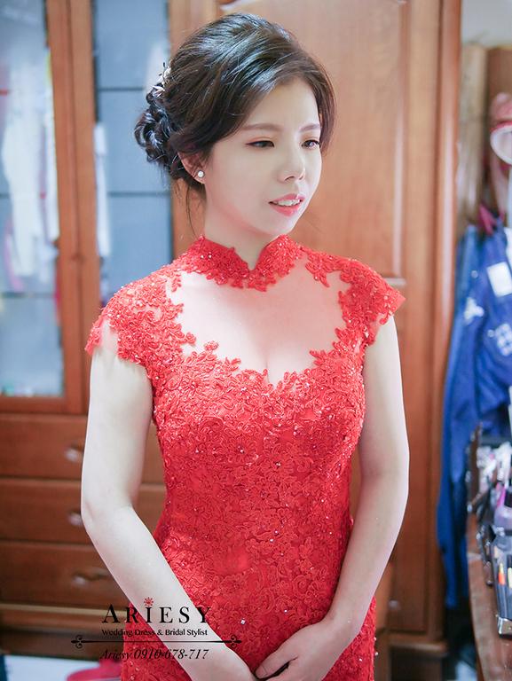旗袍新娘造型,新娘秘書,新娘盤髮,單眼皮新娘,台北新秘