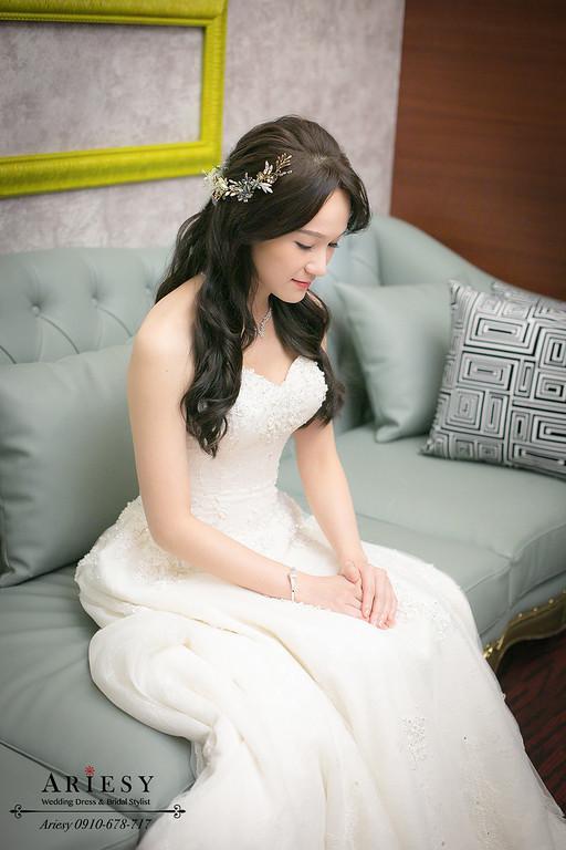 新娘長髮造型,,白紗造型,新秘作品,新娘秘書