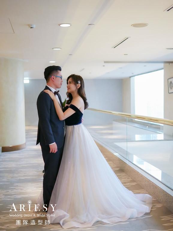 送客造型,放髮造型,新娘髮型,晶華酒店,簡約氣質新娘造型