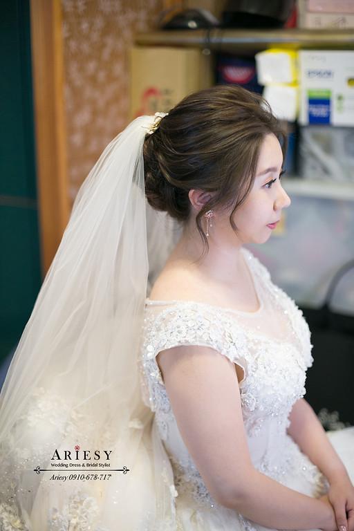 單眼皮新娘,白紗新娘造型,新娘髮型,繽紛不凋捧花,新秘推薦,新娘秘書