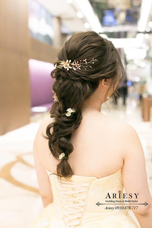 單眼皮新娘,敬酒新娘造型,新娘髮型,森林系編髮仙女新娘造型,新秘推薦,新娘秘書