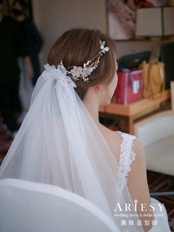 迎娶造型,新娘髮型,愛瑞思婚紗,頭紗造型,新秘推薦