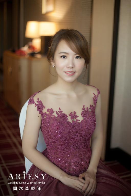 文定髮型,編髮造型,台北新秘,新娘花藝造型,Ariesy婚紗