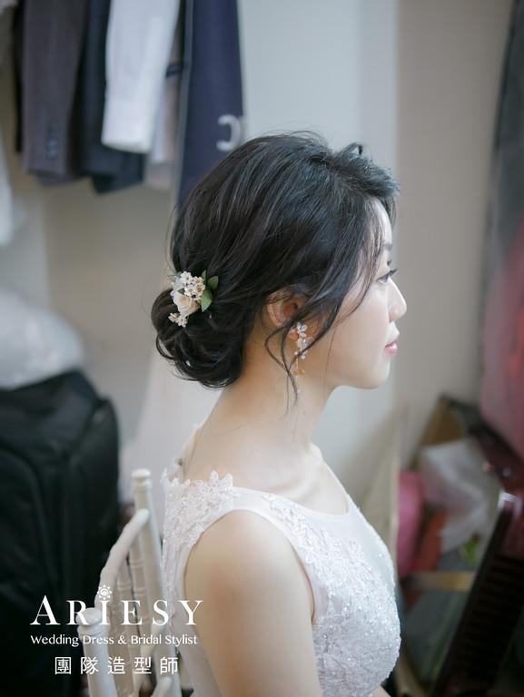 證婚髮型,台北新秘推薦,編髮造型,新秘花藝,黑髮新娘