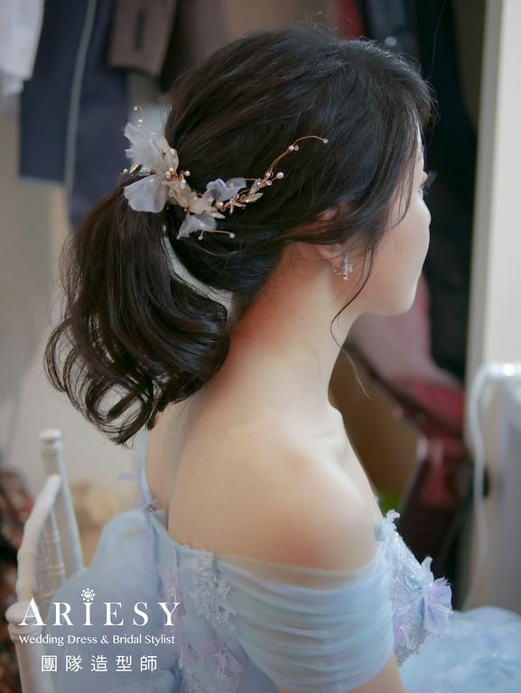 敬酒髮型,新娘馬尾造型,新秘,黑髮新娘,新娘髮型