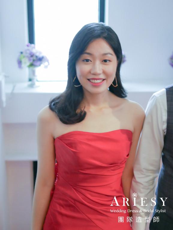 送客髮型,新娘放髮造型,新娘黑髮造型,時尚造型,新娘秘書