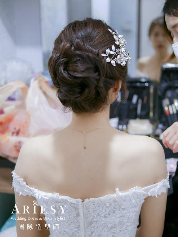 進場髮型,新娘白紗造型,台北新秘,編髮造型,清新自然新娘妝