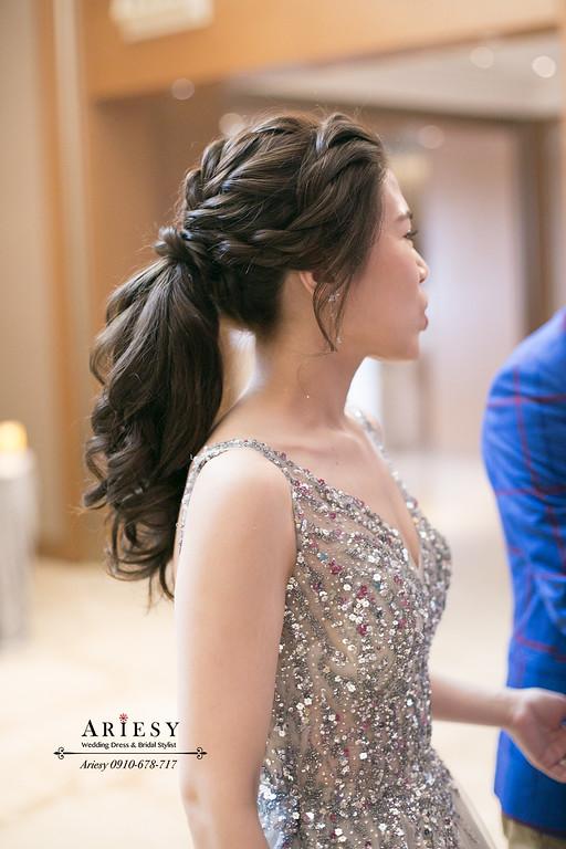 ARIESY,新秘推薦,編髮新娘馬尾髮型,新娘造型,新娘秘書,愛瑞思
