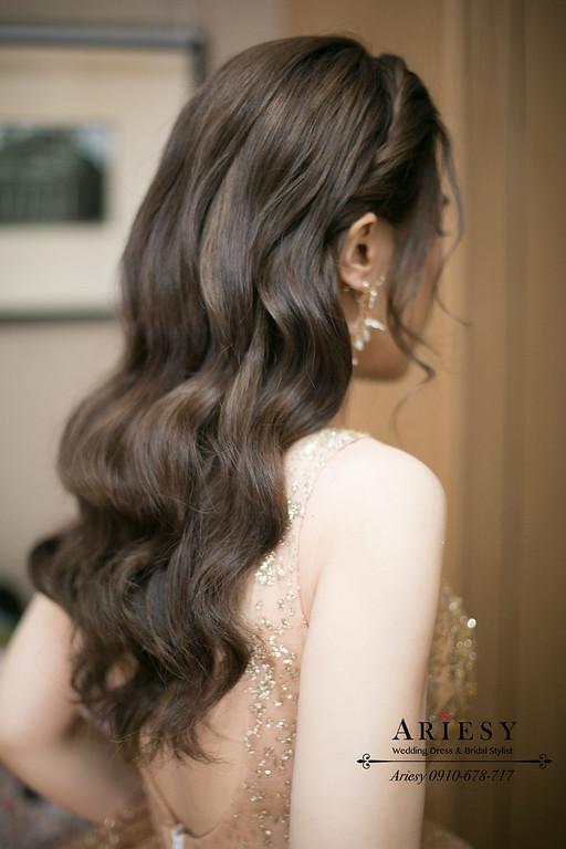 新秘推薦,編髮送客造型,清透妝感,新娘造型,新娘秘書,愛瑞思