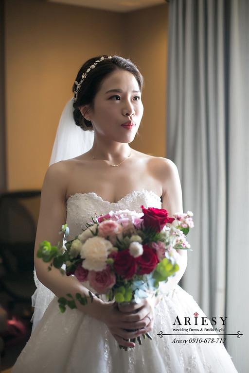 新秘推薦,皮膚白皙新娘,清透妝感,新娘造型,新娘捧花,愛瑞思
