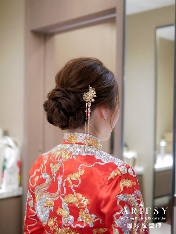 文定髮型,編髮髮型,秀禾服髮型,台北新秘,龍鳳褂造型