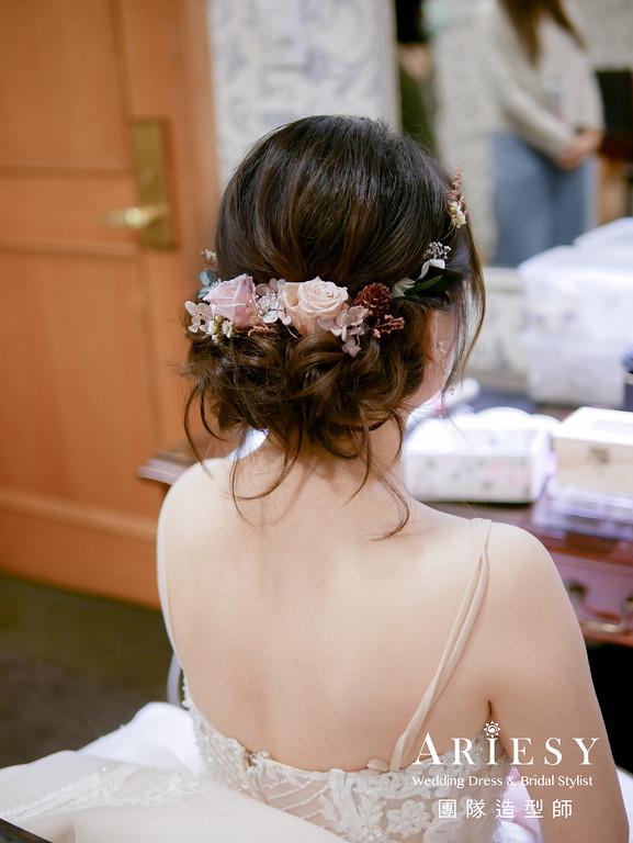 進場髮型,浪漫編髮造型,新秘,新娘髮型,新秘花藝