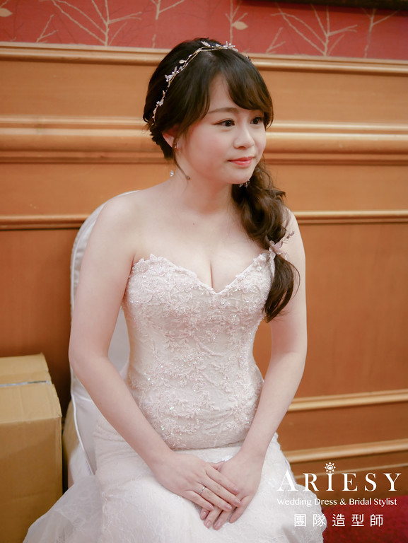 敬酒髮型,編髮造型,新娘秘書,甜美造型,新娘邊髮造型