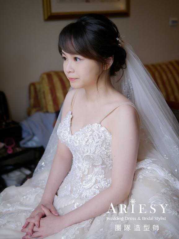 迎娶髮型,台北新秘,新娘編髮造型,新秘推薦,自然妝感