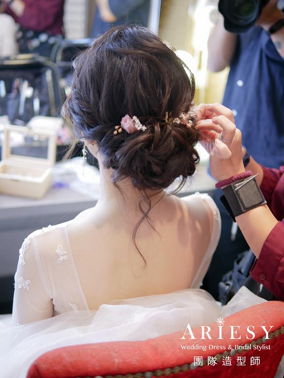 進場髮型,自然編髮造型,新秘花藝,歐美風格,新秘推薦