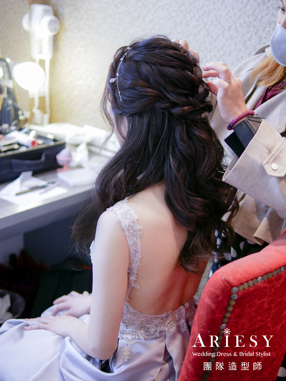 送客髮型,公主頭造型,新娘造型,台北新秘,新娘髮型