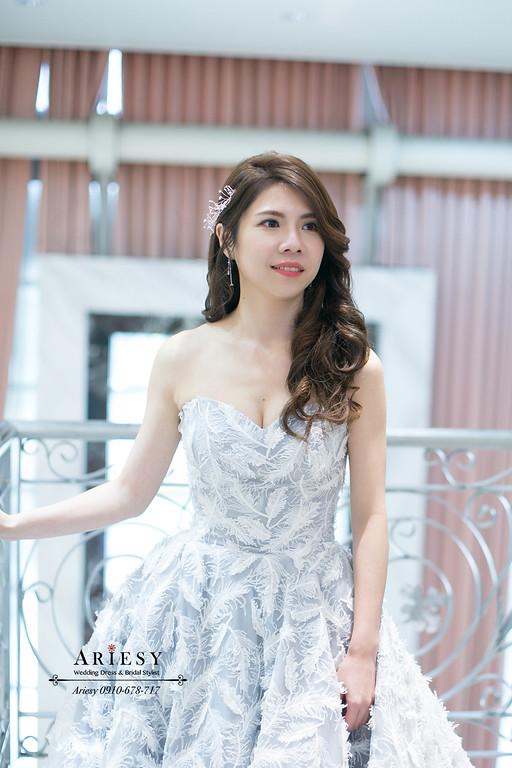 名媛放髮造型,愛瑞思,ARIESY,新秘推薦,新娘秘書,愛瑞思ARIESY婚紗禮服,敬酒新娘造型