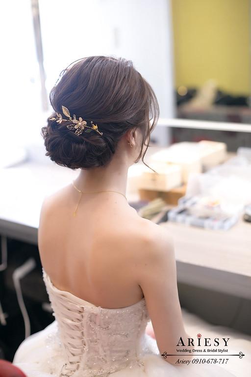愛瑞思,ARIESY,新秘推薦,新娘秘書,森林系白紗新娘髮型,韓風妝感,愛瑞思ARIESY婚紗禮服