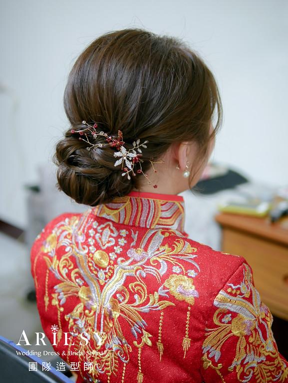 文定髮型,龍鳳褂造型,編髮髮型,新秘推薦,新娘妝