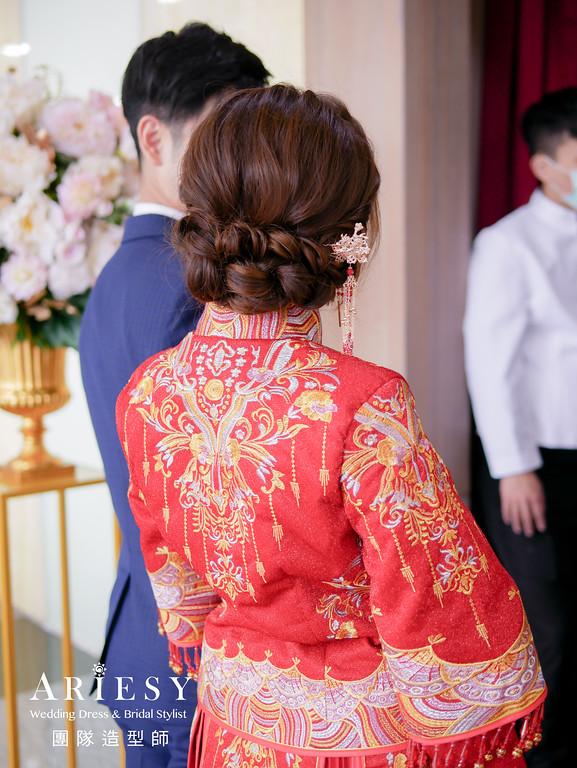 敬酒髮型,秀禾服造型,編髮新秘,新娘妝感,新娘妝