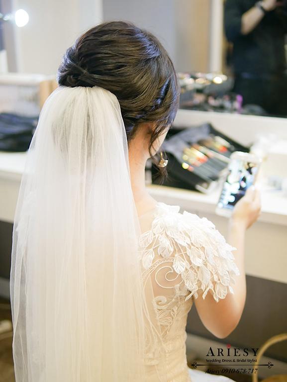 黑髮新娘,台北新秘,新娘秘書,愛瑞思,ARIESY,鮮花新秘