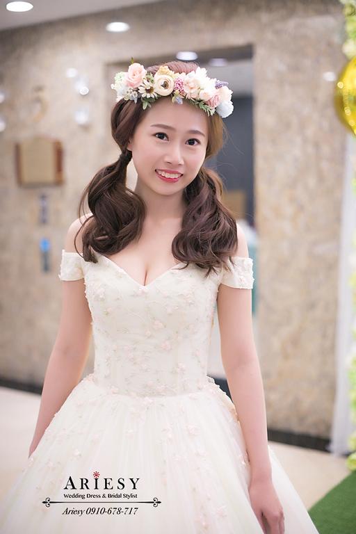 鮮花新娘造型,日系新娘髮型,新娘秘書,台北新秘,ariesy,愛瑞思