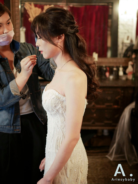 新祕,Ariesybaby造型團隊,歐美新娘,浪漫公主頭,清透妝感