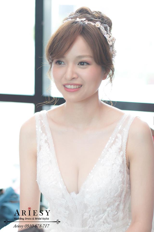 ariesy,台北新秘,白紗造型,歐美風牡丹捧花,自然輕透妝感